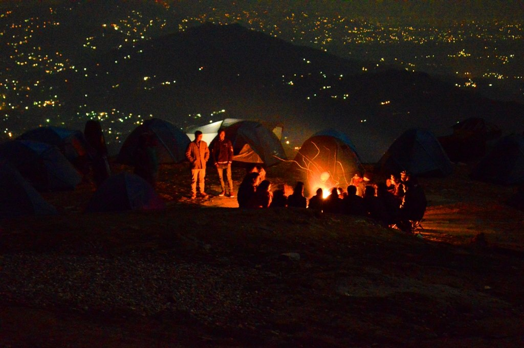 Camping at Billing and paragliding package