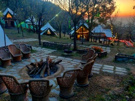 evening camping