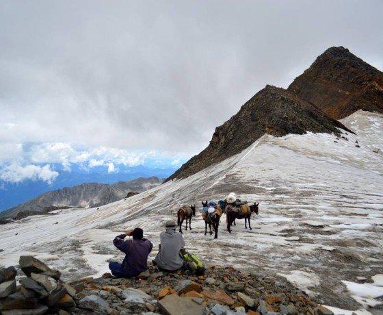 trekking to Kali Hani pass, Bada Bhnagal trek pass