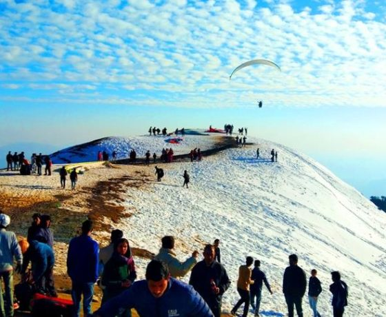 Paragliding take off point in Bir Billing Himachal Pradesh