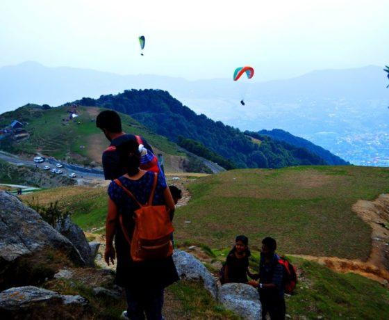 Raj gundha village in Bir Billing and paragliding trekking